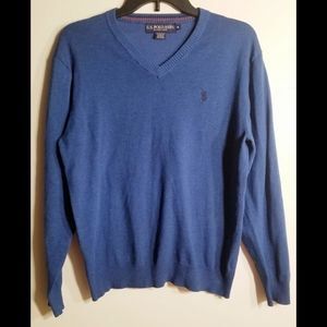 U.S Polo Assn. Dark blue v-neck pullover sweater